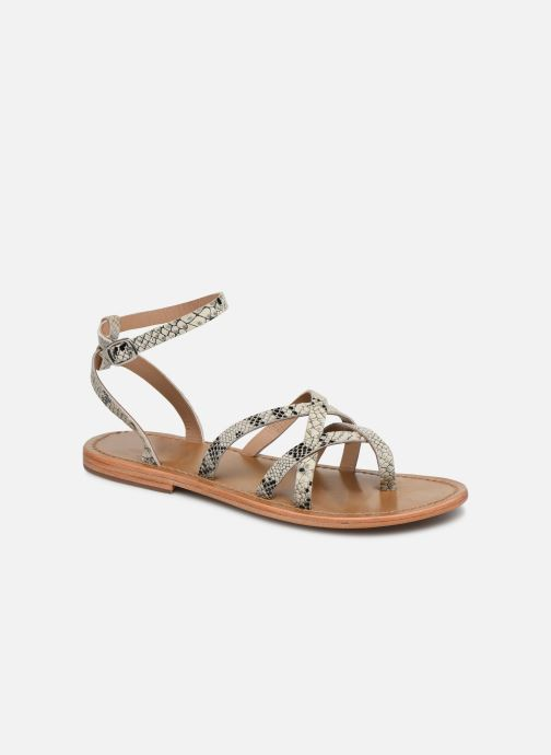 Sandals White Sun Babylonia Grey detailed view/ Pair view